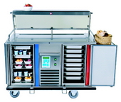 Hostess trolley for hot and cold food gt-reg2
