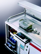 Hostess trolley for hot and cold food gt-reg4