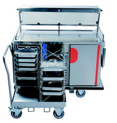 Hostess trolley for hot and cold food gt-reg5