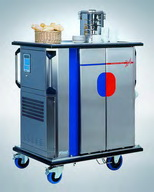Single tray hot and cold trolley
