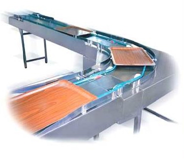 fini tray-conveyor belts action