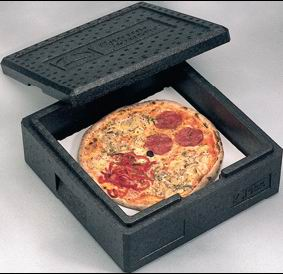 Thermobox pizza box with cover